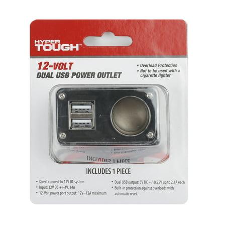 HyperTough 12-Volt Dual USB Power Outlet, Model 5135, Automotive Electrical Tool