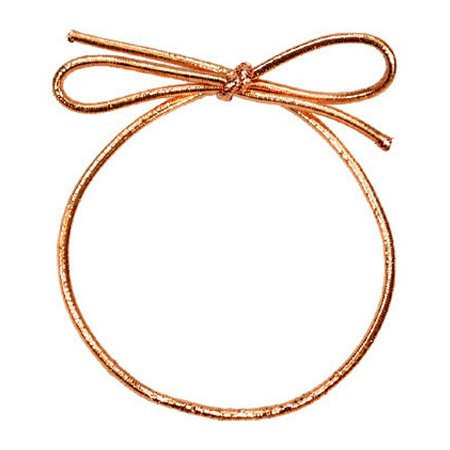 6 Inch Copper Metallic Stretch Loops With Bow - 50 Pack - Pack Cropper Hopper