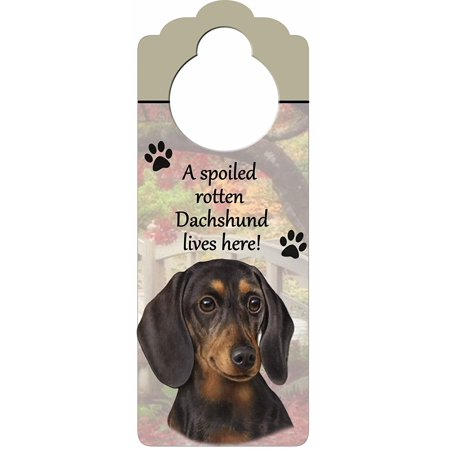 Dachshund, Red Wood Sign