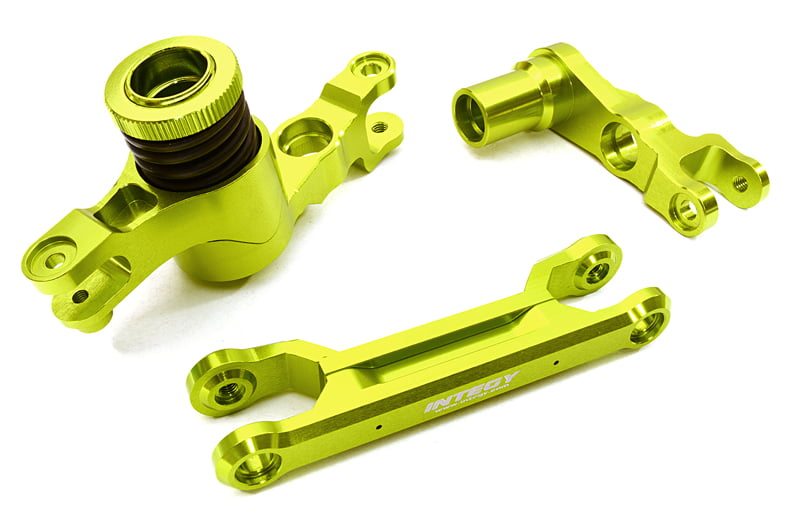 Integy RC Toy Model Hop-ups C26944GREEN Billet Machined Steering Bell Crank Set for... by Integy