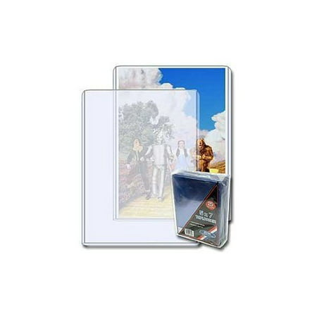 BCW 5 x 7 - Topload Holder (25 Holders/Pack) - Photo, Picture, Photograph Display - Baseball, Football, Basketball, Hock