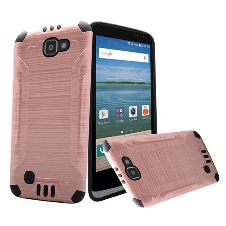 Huawei Ascend XT Case, Dual Layer Shockproof Tough Brushed Hybrid Armor Drop Protection Case Cover For Huawei Ascend XT (Rose Gold)](body glove for the huawei ascend xt)