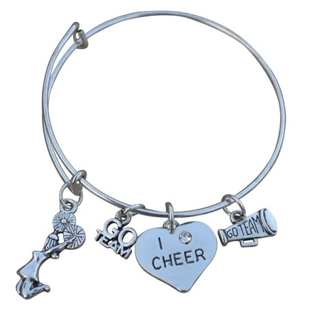 Cheer Bangle Bracelet for Cheerleaders, Cheerleading Gift for Teens and