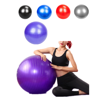33 inch 1600g Yoga Ball with Air Pump, Exercise Fitness Pilates Balance Stability Gymnastic Strength Training, for Home Gym