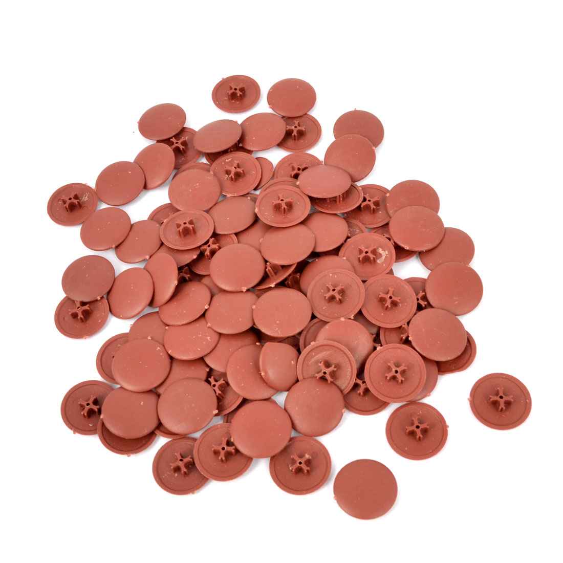 100pcs Press Fit Pozi Phillips Screw Cover Caps Brown - image 1 of 1