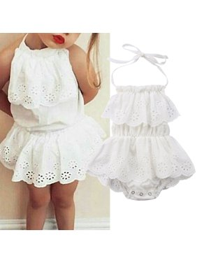 31fe6bcb9f6 Product Image One-Piece Newborn Infant Baby Girls Bodysuit Dress Romper  Jumpsuit Outfit Sunsuit Clothes 0-