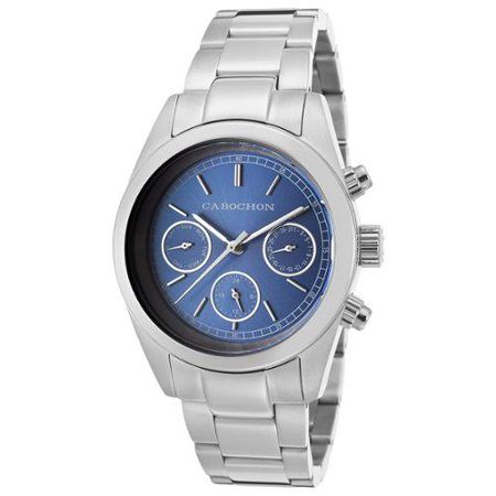 Cabochon 1103 De Ce Monde Multi-Function Stainless Steel Blue Dial Watch