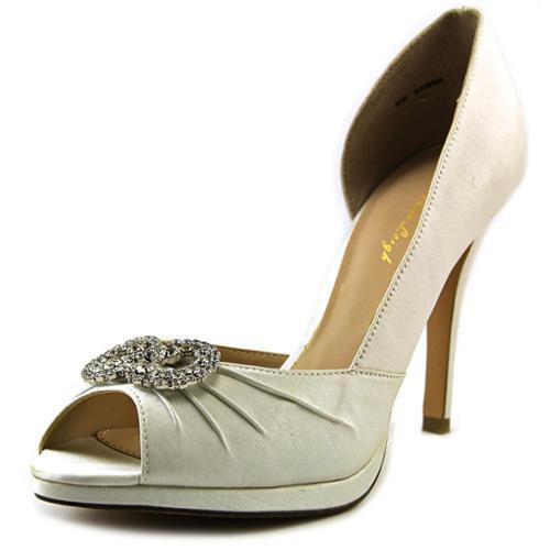 Brianna Leigh Karina Women US 9.5 White Peep Toe Heels