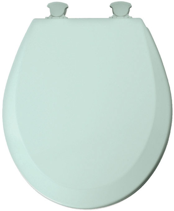 Mayfair 41EC-455 Wood Toilet Seat, Seafoam by Mayfair