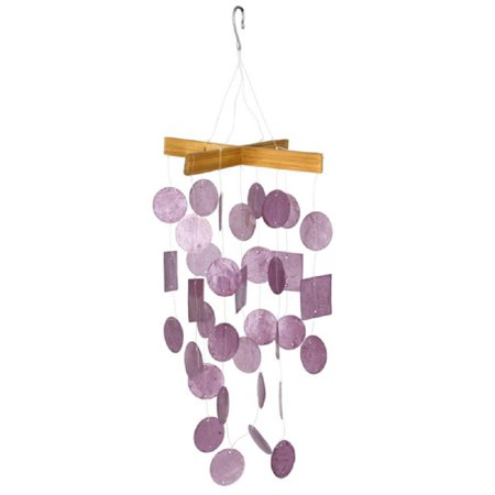 Woodstock Miniature Raspberry Capiz Wind Chime Outdoor Garden Windchime C129 New