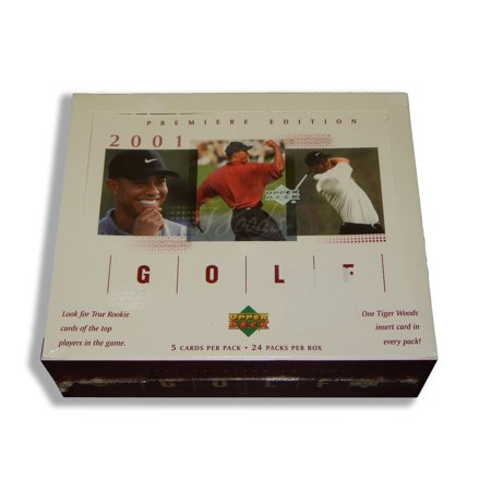 2001 Golf Retail RED Box 24 packs TIGER WOODS R/C, R/C Auto card?, Brand New, Factory Sealed! Red Retail Box! These retail boxes are identical to hobby.., By Upper Deck Ship from US