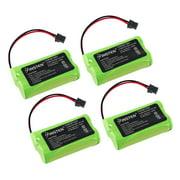 Insten 4-Pack Uniden BT-1007 BT-1015 Cordless Home Phone Replacement Battery 1400mAh
