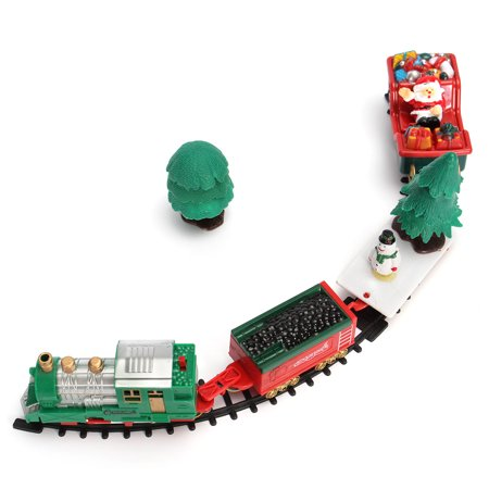 20-Piece Battery Operated Christmas Musical Express Train Carriages Tree Headlight Tracks Playset Fashion Funny Birthday Gift Kids Toy Christmas Decoration Christmas Decor Gift - image 1 of 8