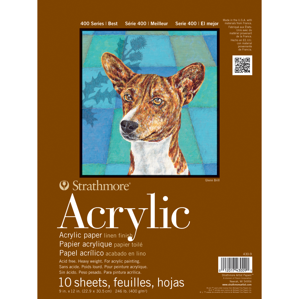 "Strathmore Acrylic Paper Pad, 9"" x 12"", 10 Sheets"