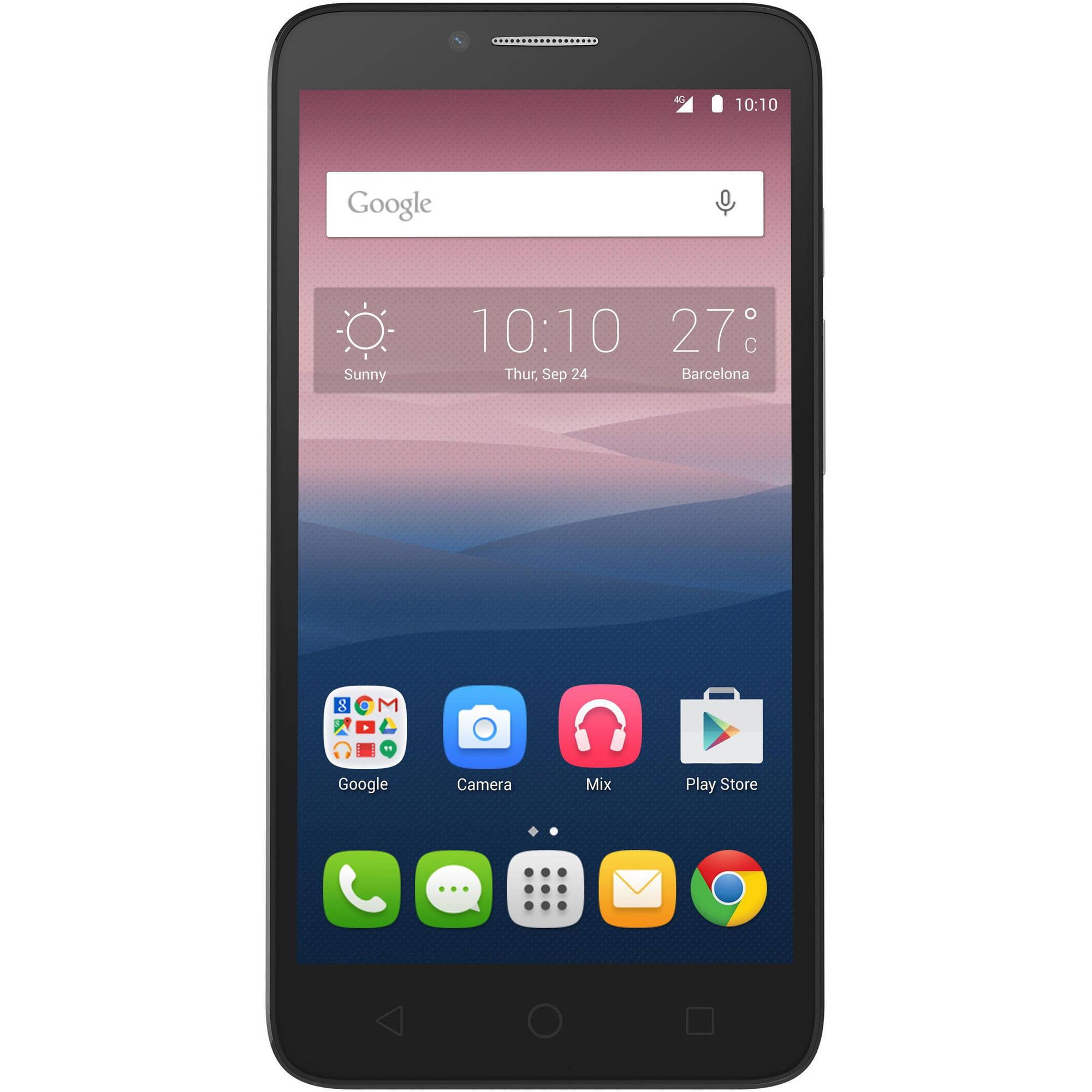 Alcatel OneTouch Pixi 3 Smartphone (Unlocked), Walmart Exclusive