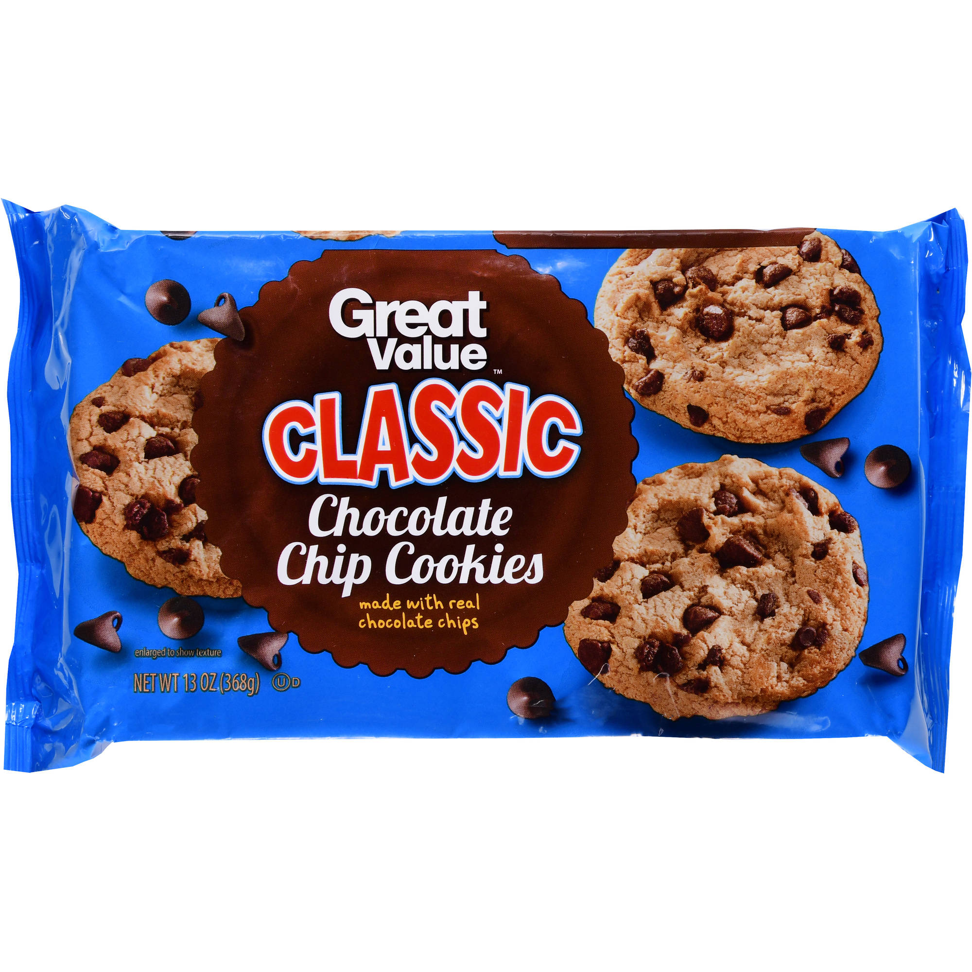 Great Value Chocolate Chip Cookies, 13.75 oz