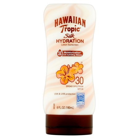 Hawaiian Tropic Silk Hydration Lotion Sunscreen Broad Spectrum, SPF 30, 6 fl oz