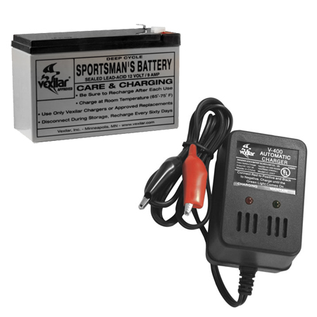 Vexilar 9 Amp Battery W/Charger V-120