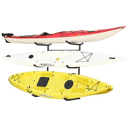 Sparehand Catalina Plus Freestanding Triple Storage Rack for 3 Kayaks or Canoes