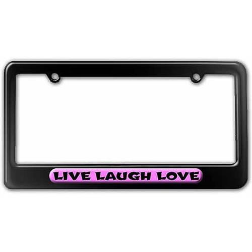 Live Laugh Love License Plate Tag Frame, Multiple Colors