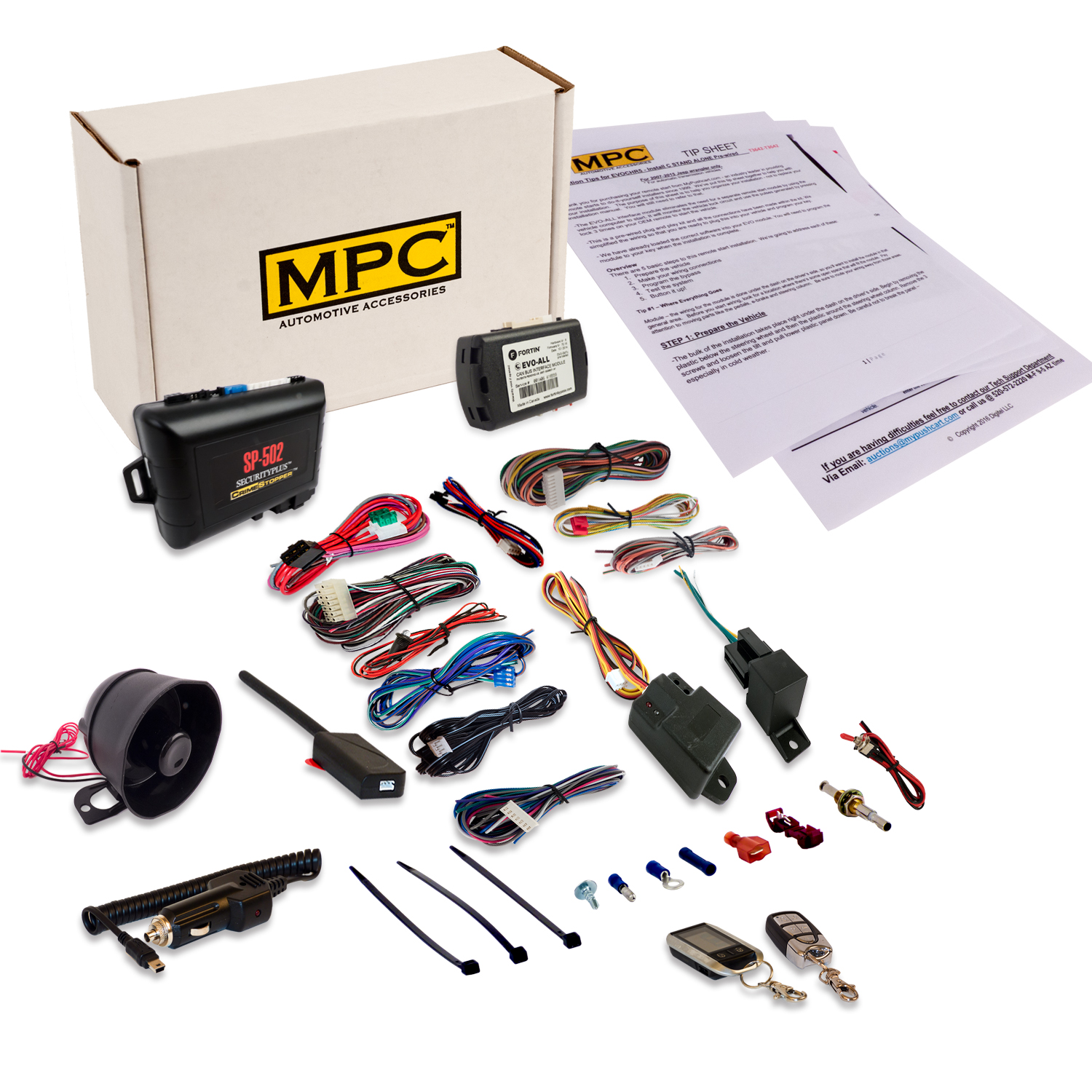 MPC Deluxe 2-Way Remote Starter & Car Alarm w/ Keyless By...