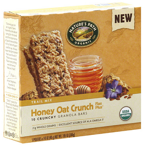 Nature's Path Organic Honey Oat Crunch Flax Plus Granola Bars, 7.05 oz (Pack of 6) by Nature's Path