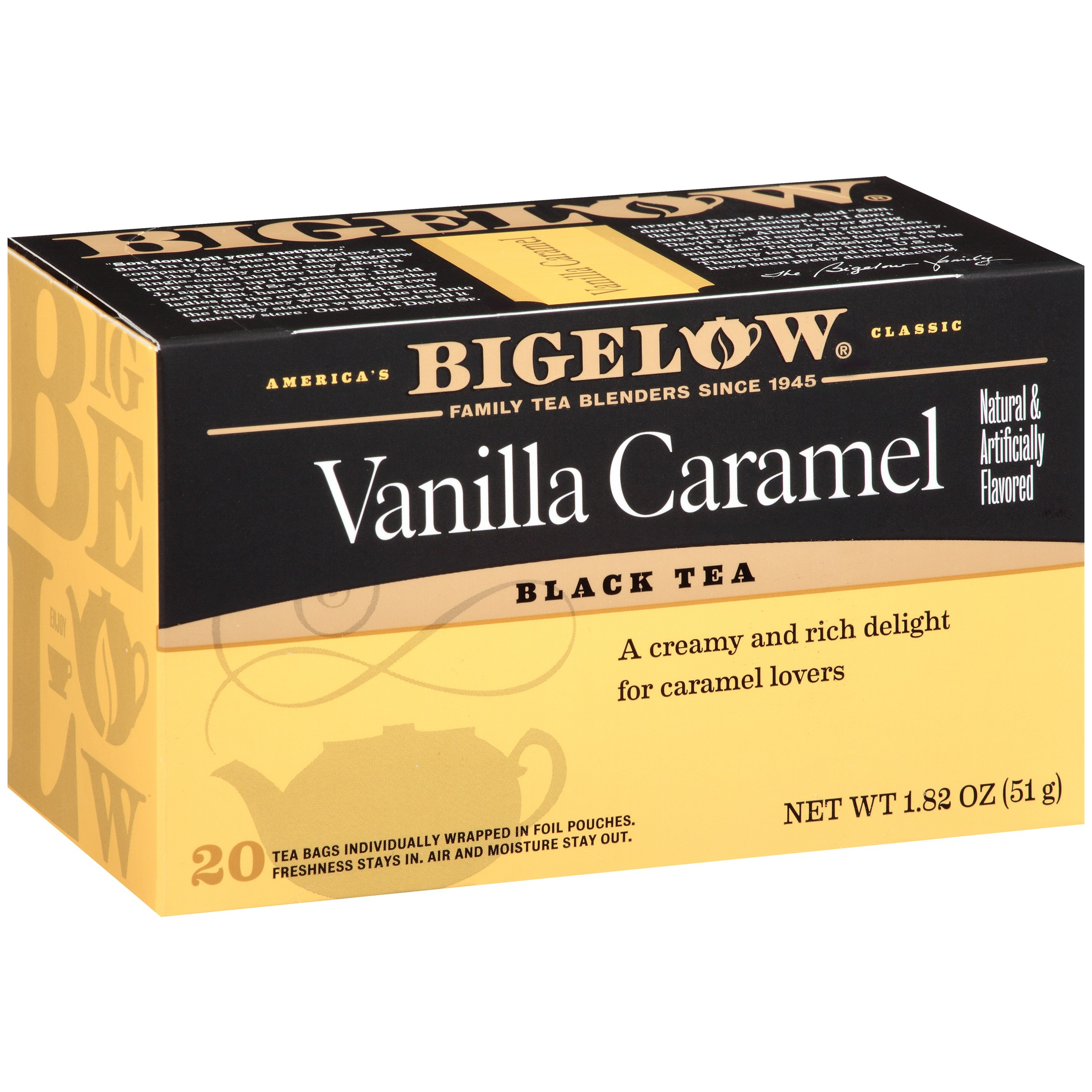Bigelow Vanilla Caramel Black Tea - 20 CT20.0 CT