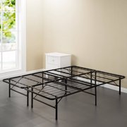 spa sensations steel smart base bed frame black multiple sizes - Storage Bed Frames