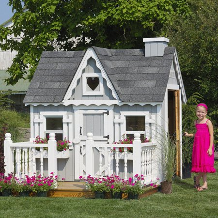 Little cottage 4 x 6 victorian wood playhouse for Victorian play house