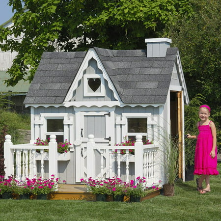 Victorian Cottage Gardens - Little Cottage 4 x 6 Victorian Wood Playhouse