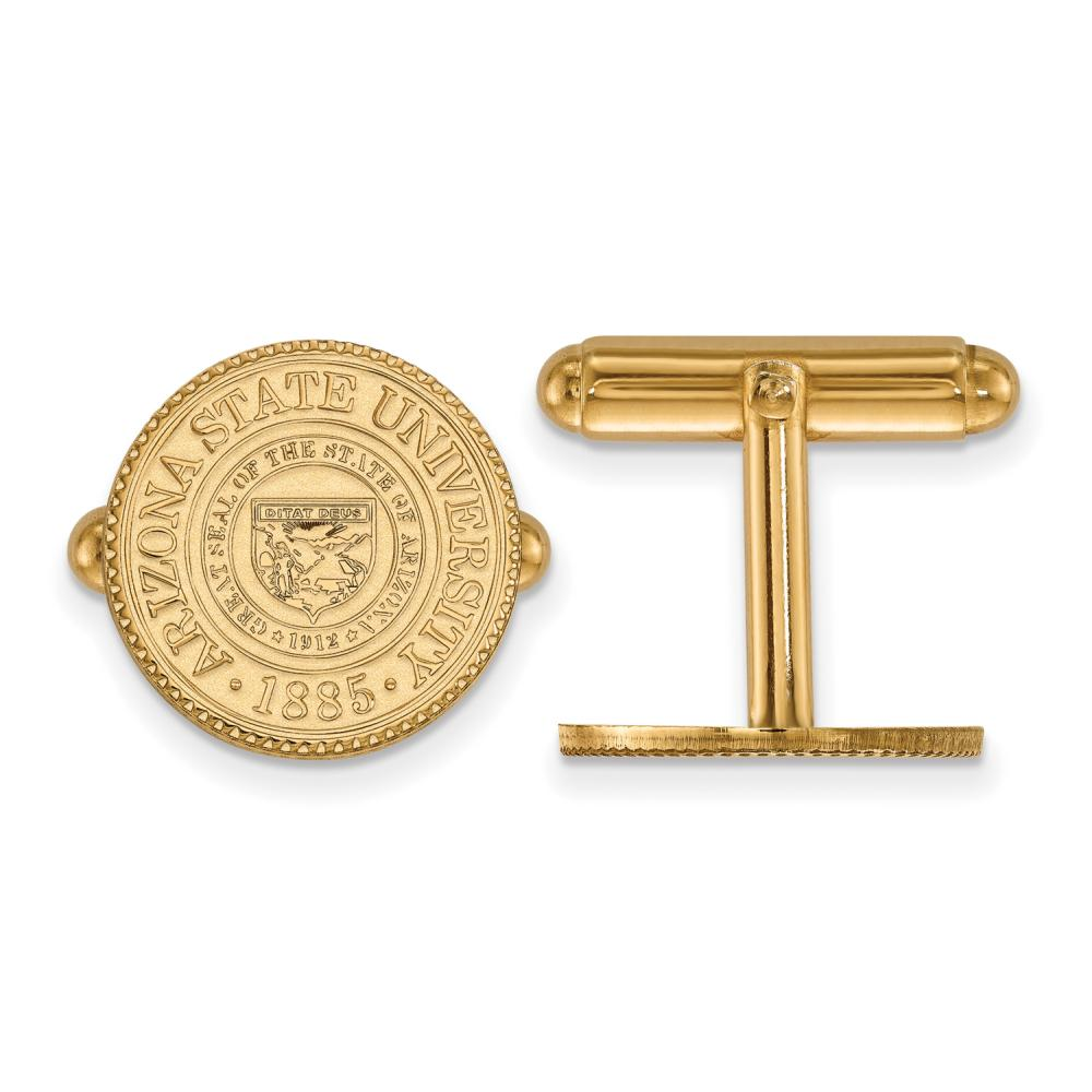 Arizona State Crest Cuff Links (Gold Plated)