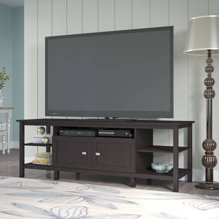 montclair tv stand in espresso oak for tv 39 s up to 75 inches. Black Bedroom Furniture Sets. Home Design Ideas