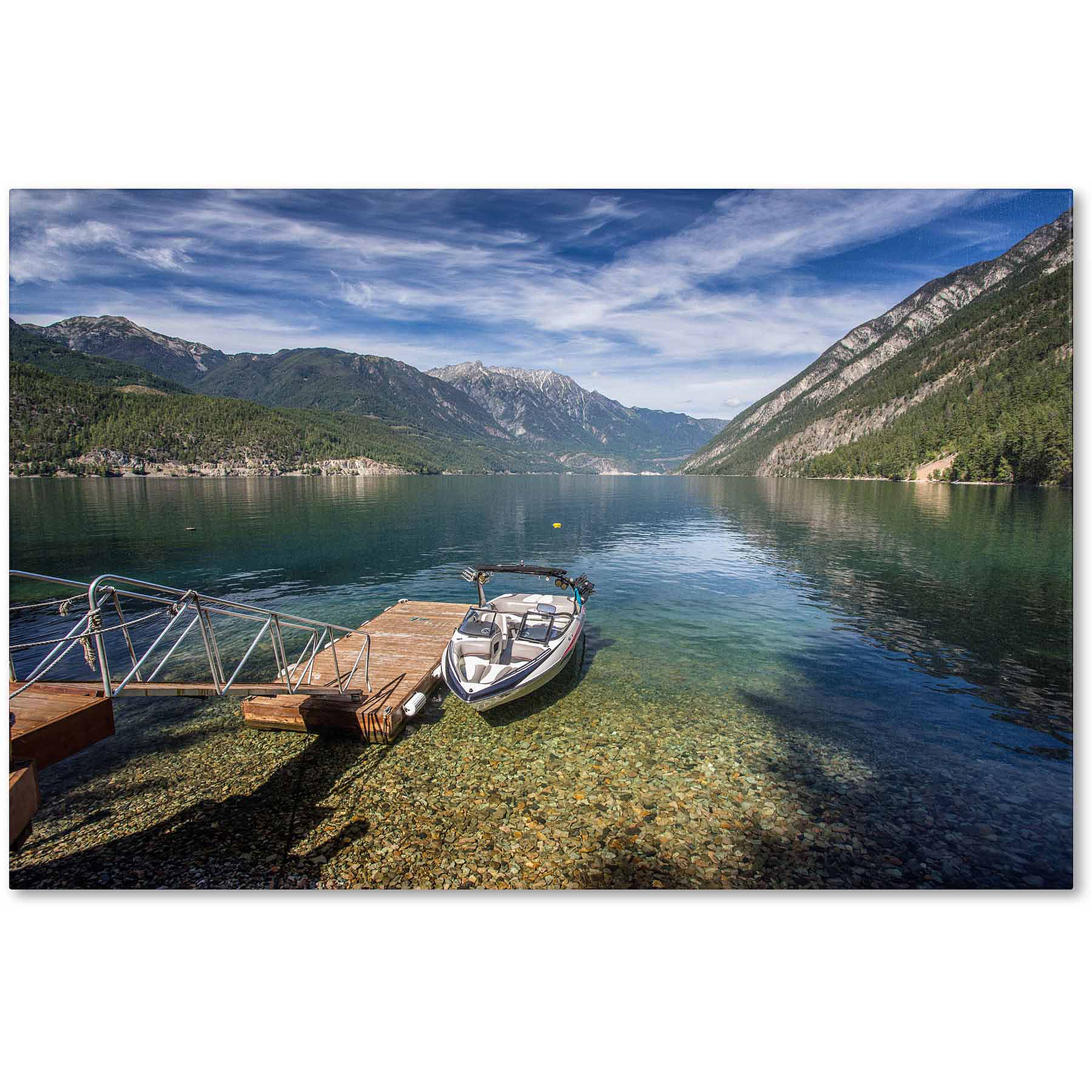 "Trademark Fine Art ""Lake"" Canvas Art by Pierre Leclerc"