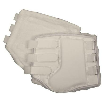 Fleece Lined Splint Boots, White - Large - Intrepid 24572LWT