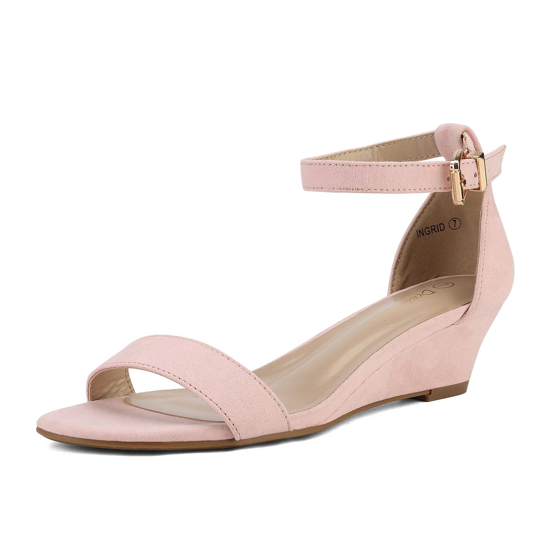 Women Low Wedge Heel Sandals Open Toe