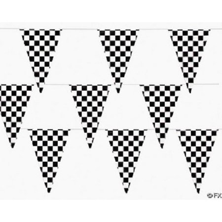 300 Ft Checkered Flag Banner Pennant Car Racing Party (3 - Checkered Flag Ring