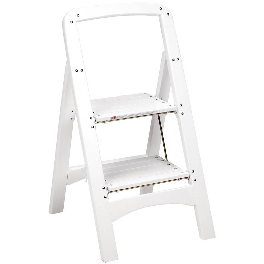 Cosco Two Step Rockford Wood Step Stool White Walmart Com