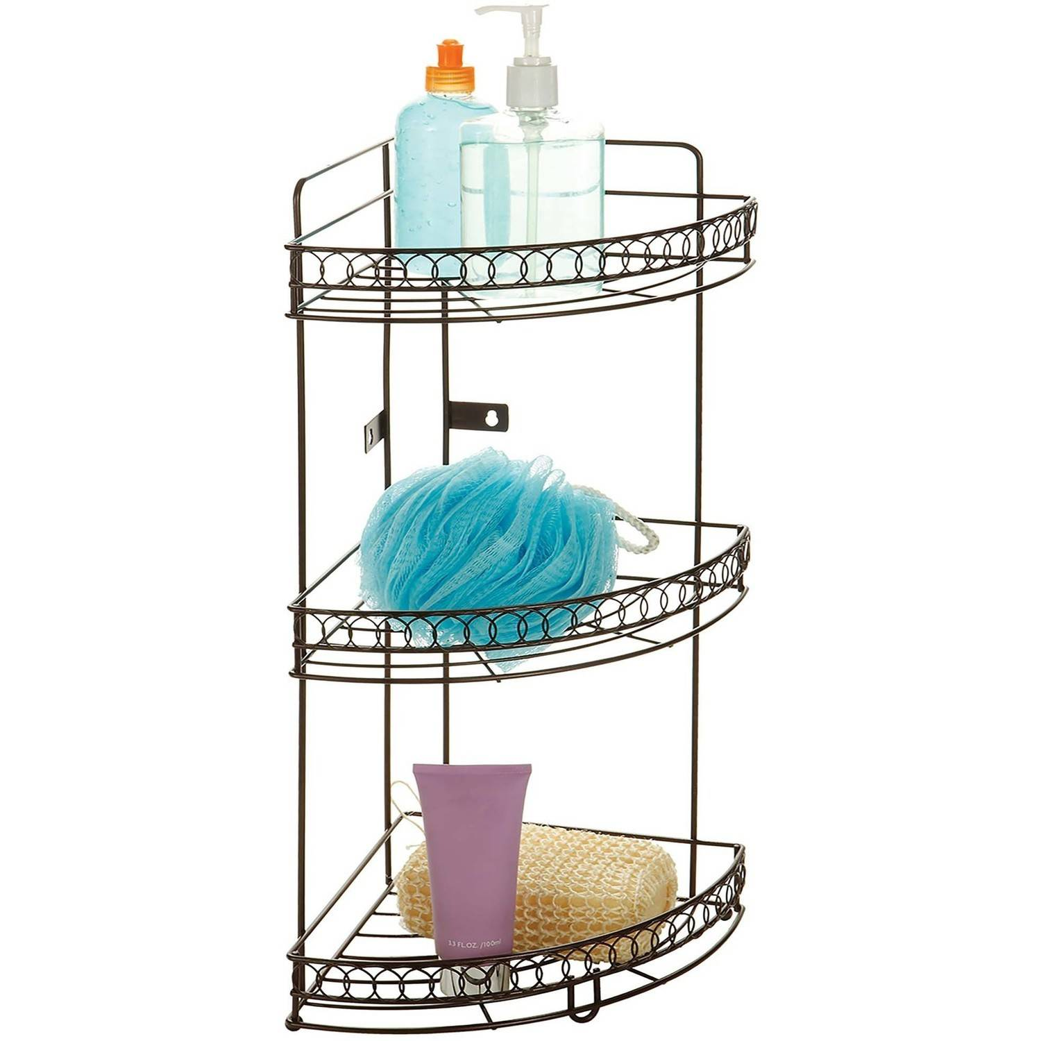 Bath Bliss 3-Tier Corner Bath Shelf, Bronze Curls - Walmart.com