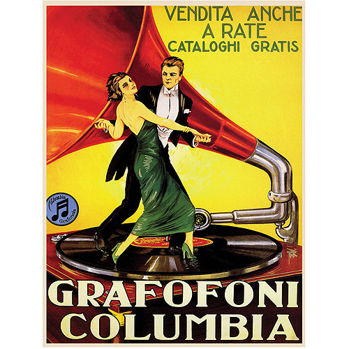 "Trademark Fine Art ""Grafafoni Columbia"" Canvas Art"