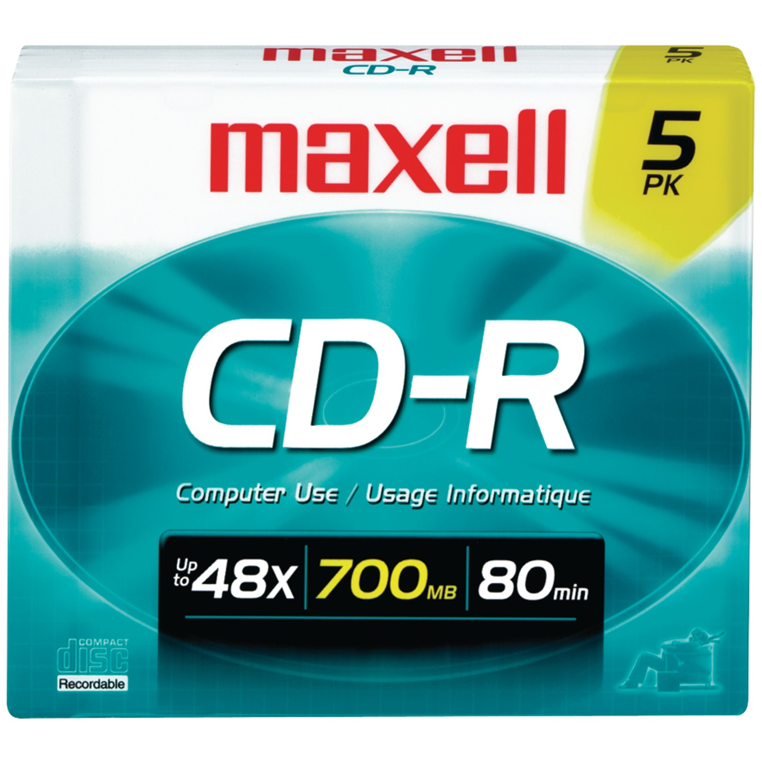 Maxell 648220 700mb 80-minute Cd-rs (5 Pk)