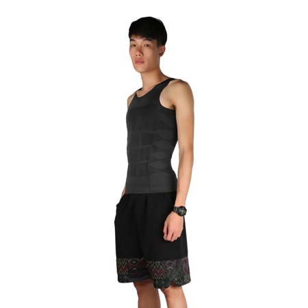 Men Slim Body Shaper Belly Fatty Underwear Vest Shirt Corset Compression Tops - image 7 of 10