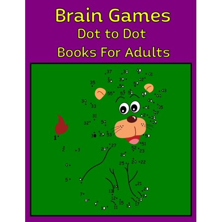 Brain Games Dot to Dot Books For Adults: 50 Unique Dot To Dot Design for drawing and coloring Stress Relieving Designs for Adults Relaxation (Paperback) Dots Grey Design