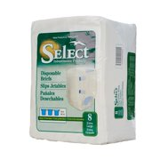 Select HEAVY Absorbency Adult Diaper Brief XL Full Fit 2635 64/Case