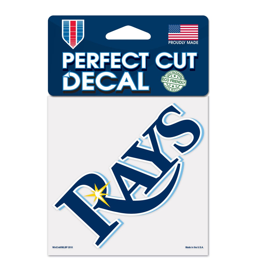 Tampa Bay Rays Official MLB 4 inch x 4 inch  Die Cut Car Decal by Wincraft