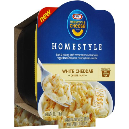 Kraft Homestyle White Cheddar Macaroni Cheese Dinner 4 Oz Microwave Bowl
