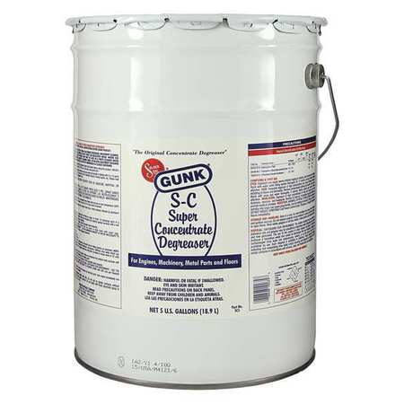 Gunk SC5 Super Concentrated Degreaser, 5 Gal