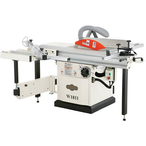 "Shop Fox W1811 5 H.P. 10"" Sliding Table Saw w  Adjustable Fences & Riving Knife by"