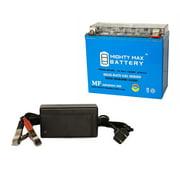 ytx20l-bs gel 12v 18ah power sport battery + 12v 4amp charger
