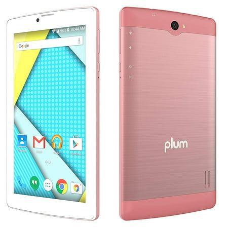 Plum Optimax 12 - Tablet + Phone Phablet 4G GSM Unlocked Android ATT  Tmobile MetroPCS Cricket Simple Mobile – Rose Gold