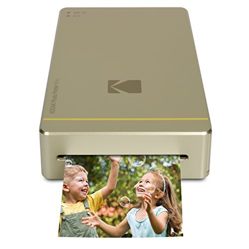 "Kodak Mini Portable Mobile Instant Photo Printer - Wi-Fi & Wirelessly Prints 2.1 x 3.4"" Images, Advanced DyeSub Printing (Gold) Compatible with Android & iOS"